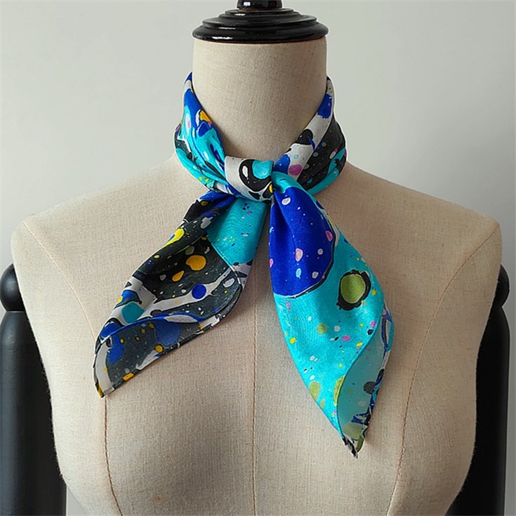 Scarf printer custom silk twill bandanas scarves with logo