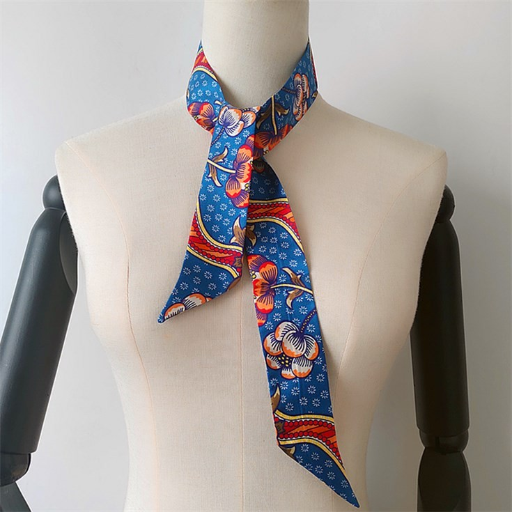 Scarf printer printing designs on the silk skinny scarves