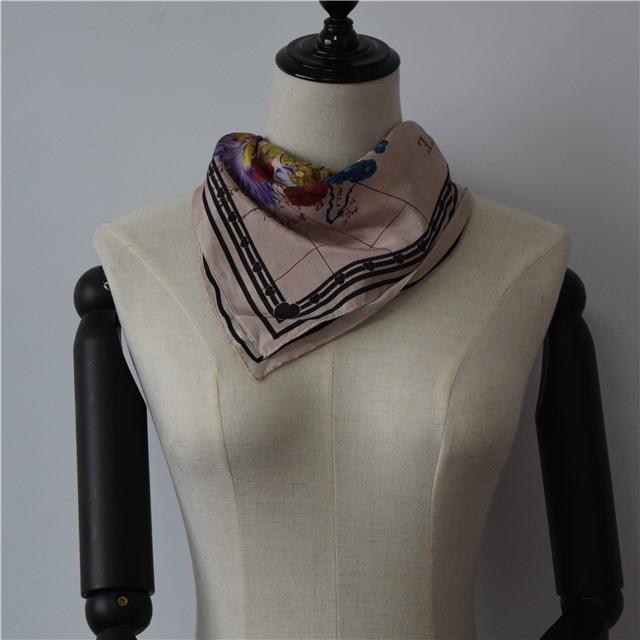 Silk scarf factory custom photo printed scarves