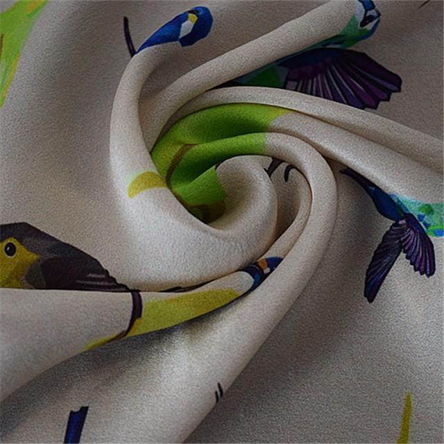 Silk scarf factory custom printed square scarf