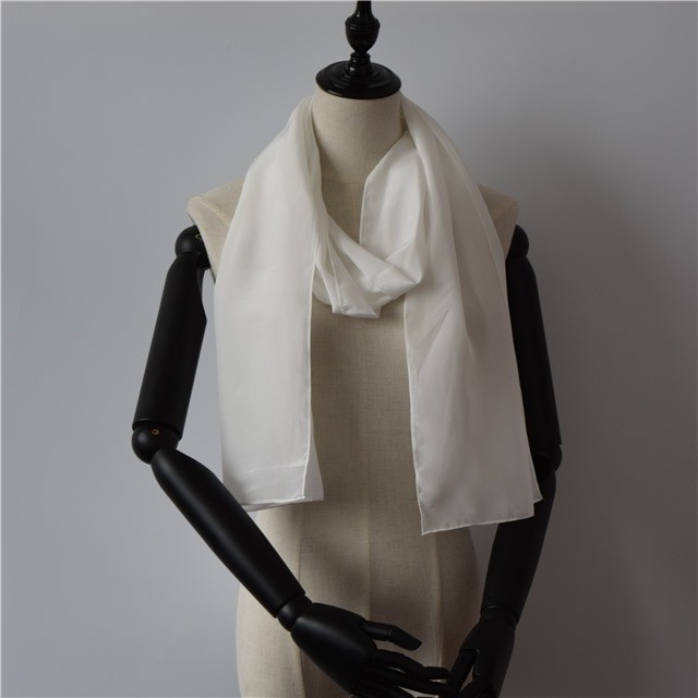 Silk scarf factory white crepe scarves for dying