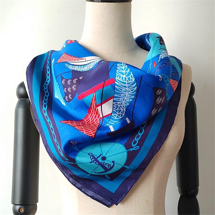 Silk scarf manufacturer China custom silk scarf printing wholesale