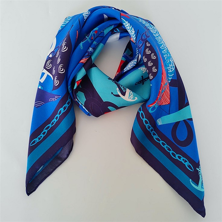 Silk scarf manufacturer China custom silk scarf printing wholesale