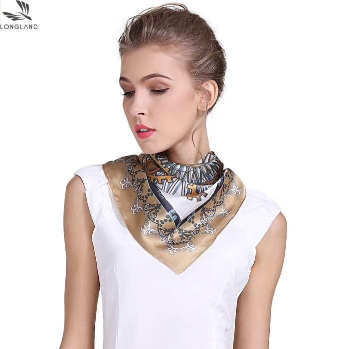 Silk scarf manufacturer custom silk charmeuse bandanas wholesale in bulk