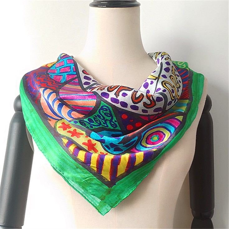 Silk scarf manufacturer custom silk hair wraps