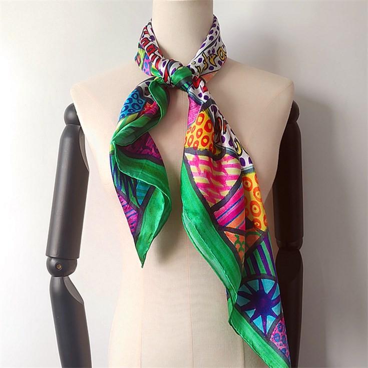 Silk scarf manufacturer custom silk hair wraps