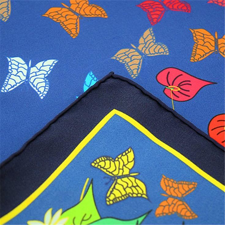 Silk scarf manufacturer digital printed 14 mm silk twill bandana