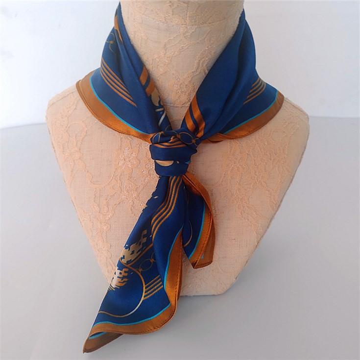 Silk scarf manufacturer digital printed custom handkerchief