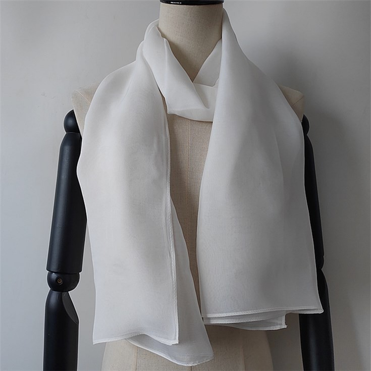 Silk scarf manufacturer stitch plain white silk scarves for painting and dying