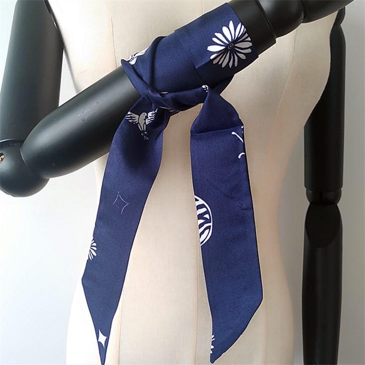 Silk scarf printer digital print ponytail scarves
