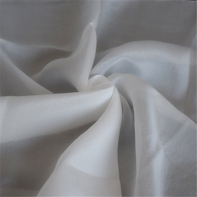 Top end white silk chiffon 8 mm for Dying in scarf factory