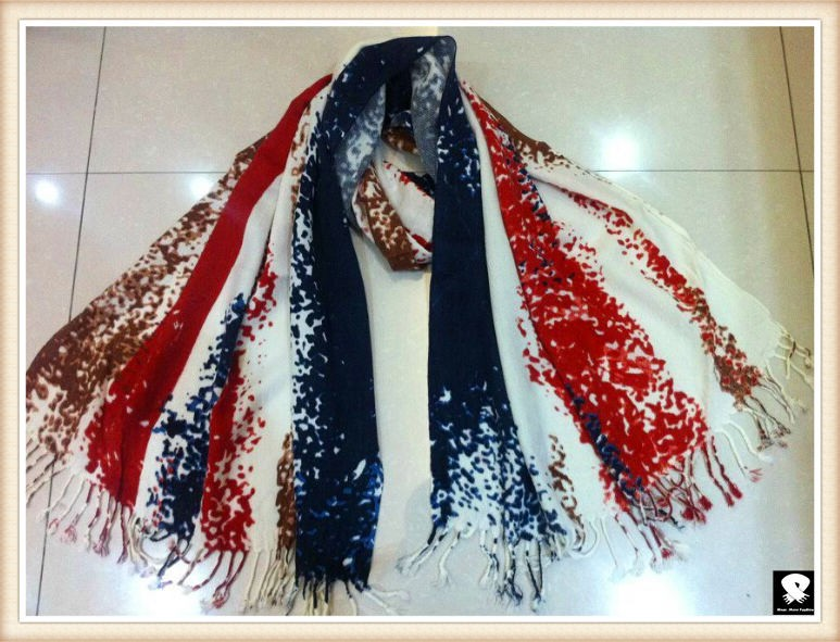 Abstract striped scarf, china scarf supplier