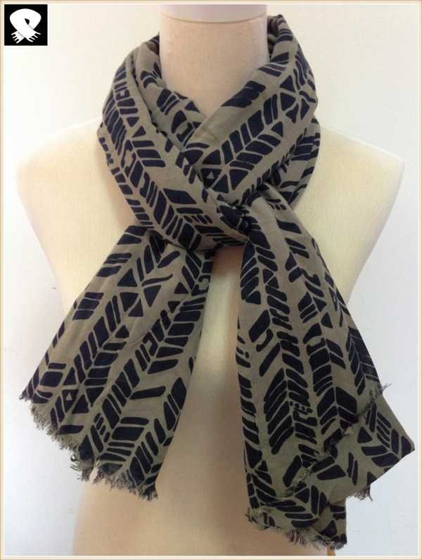 Arrow viscose scarf, china scarf factory