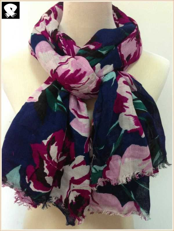 Blossom scarf bespoke in China scarf factory