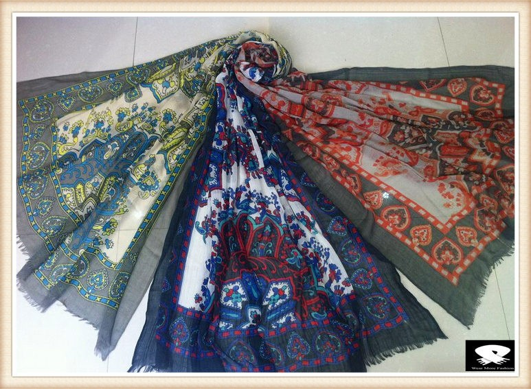 Fashion viscose scarf in China scarf factory