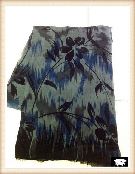 Flower scarf in China viscose scarf supplier