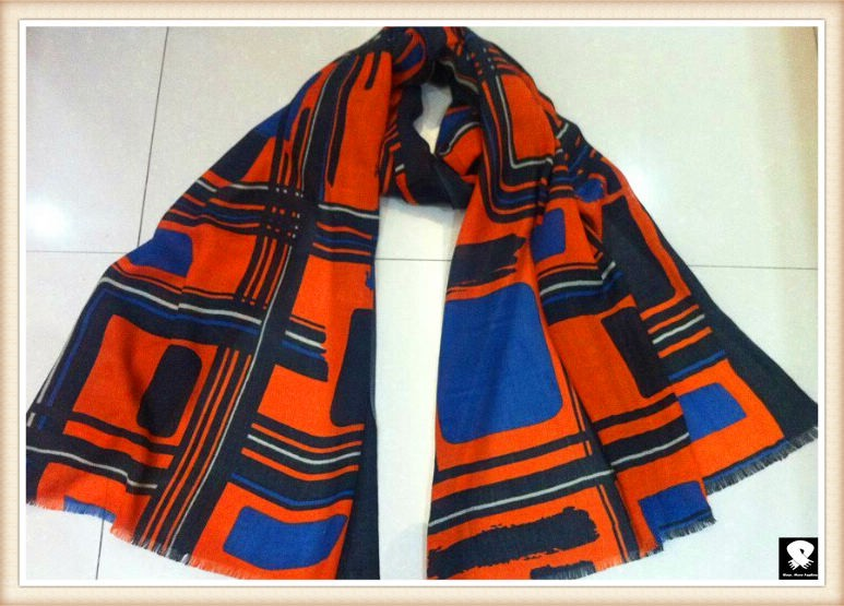 Geo scarf bespoke in our china scarf factory