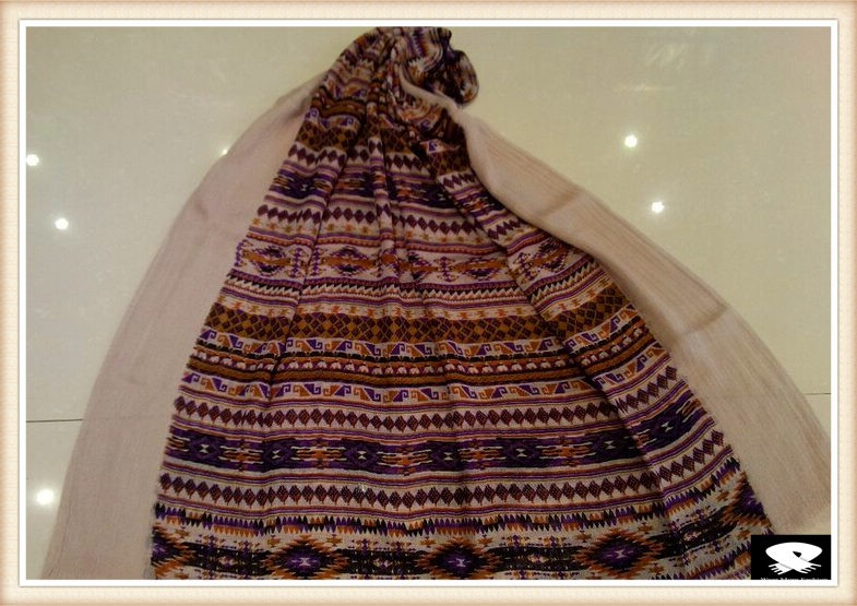 Geo viscose scarf made in China scarf factory