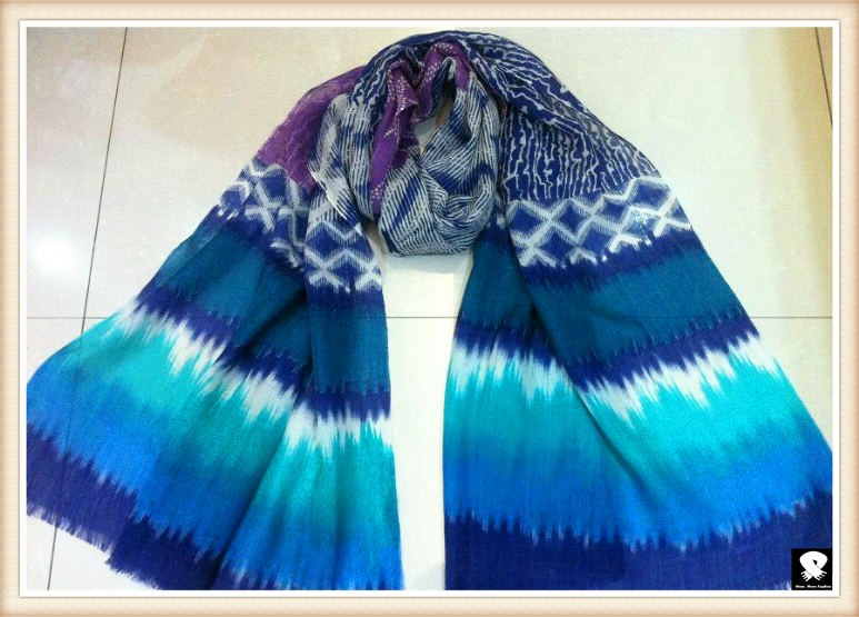 Gradient Geo scarf, china scarf factory