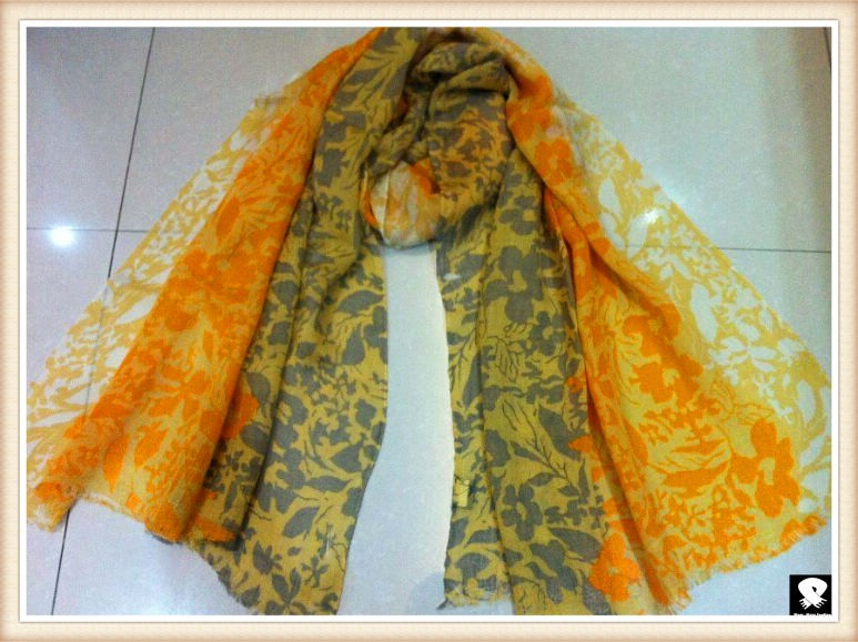 Multi-colors  viscose scarf, china scarf factory