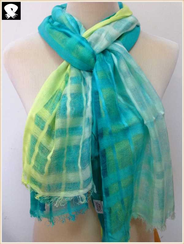 Neon color viscose scarf, scarf factory