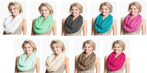 Plain colors scarves, 13 colors options
