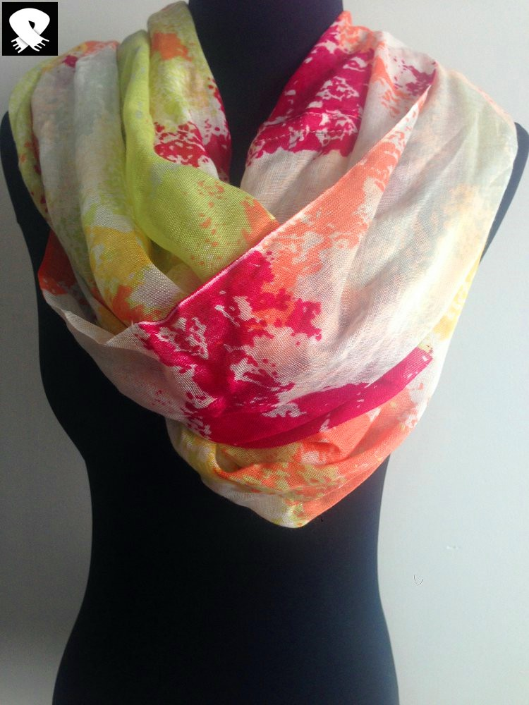 Scarf factory, abstract viscose scarf for S/S 16