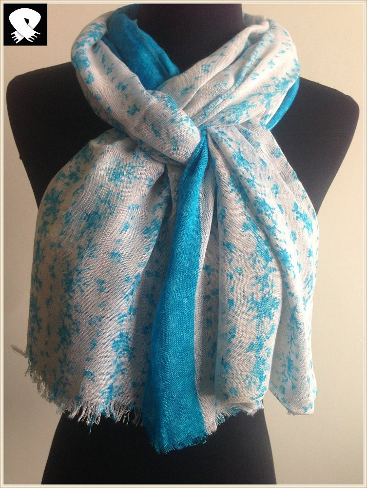 Scarf factory, spring small florals patterns scarf