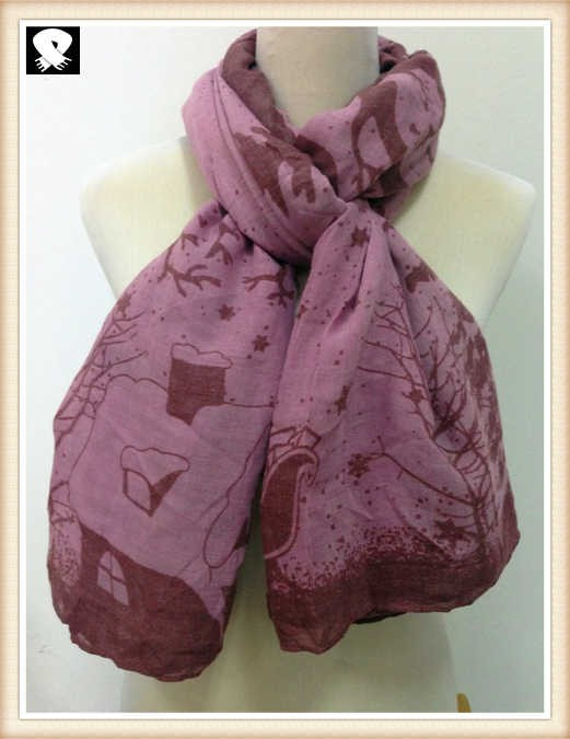Soft trees viscose scarf, scarf factory