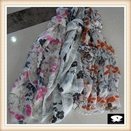 Stylish floral scarf bespoke from scarf factory