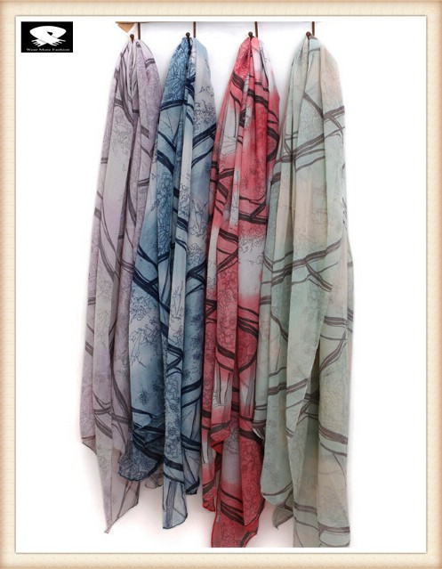 Super soft viscose scarf in china scarf factory