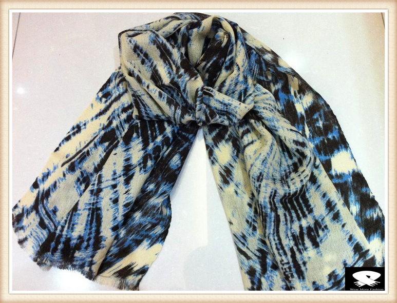 Tie-dye viscose scarf, china scarf manufacturer