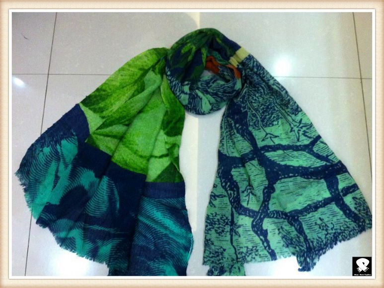 Tree pole scarf, china scarf factory