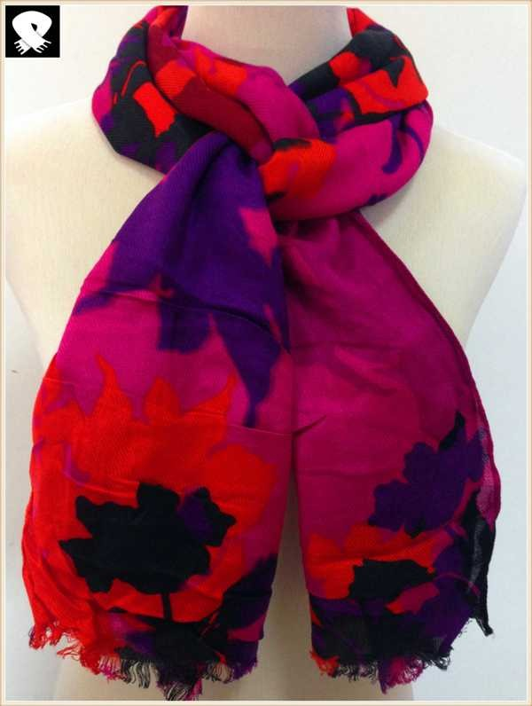 Vivid scarf with multi colors,china scarf factory