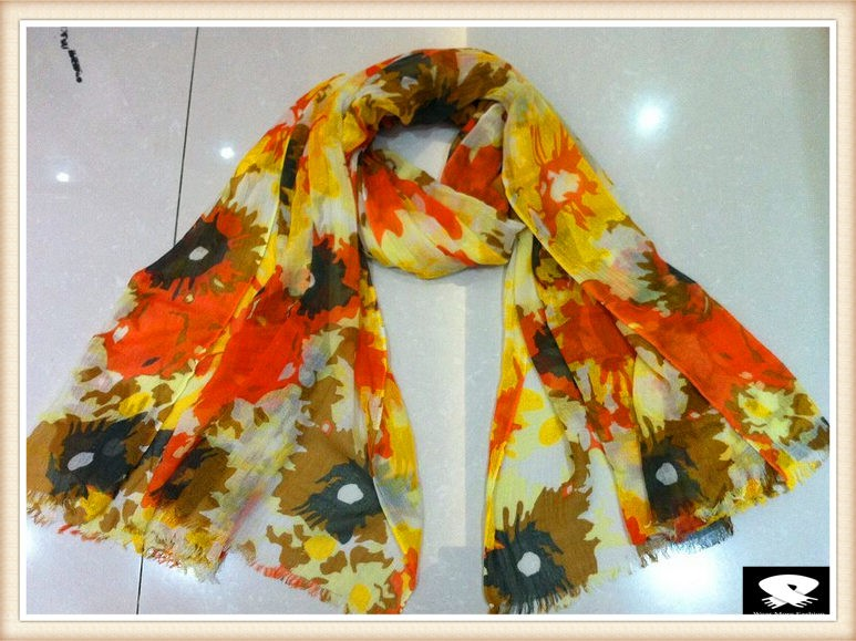 Vivid viscose scarf, china scarf supplier