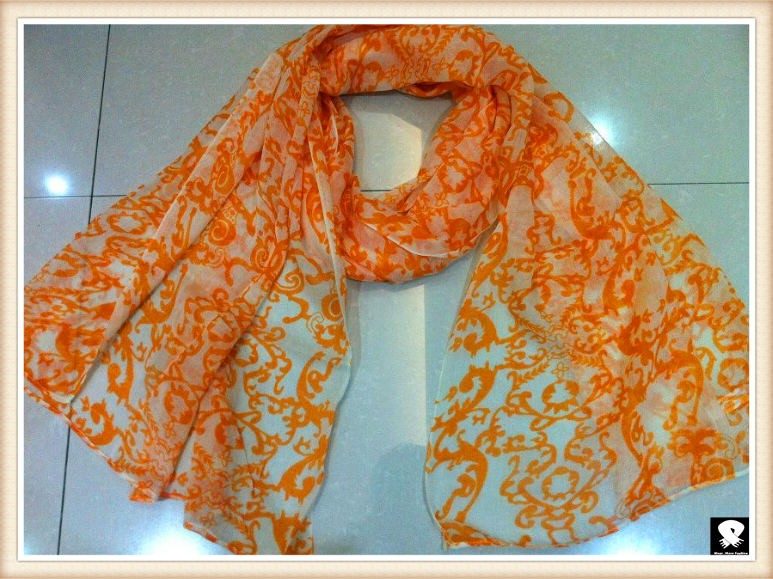 fluorescence color scarf, china scarf factory