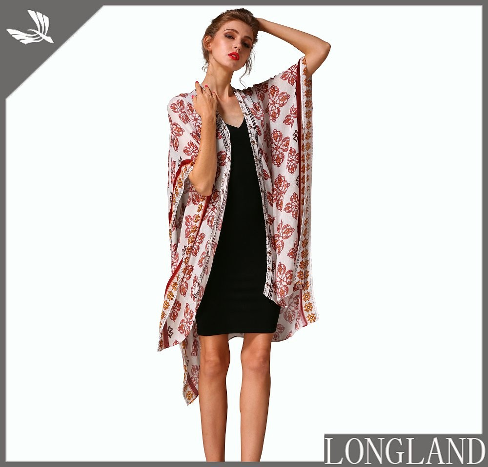 Pink capes for women from China scarf factory