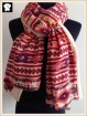 Pink geo arylic scarf with super soft handle