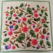 Silk scarf printer custom flowers silk habotai bandanas scarves with logo