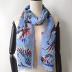 Silk scarf manufacturer digital printed blend modal and cashmere unisex scarves