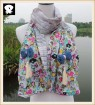 Scarf factory, lovely spring flowers cotton scarf
