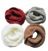 Solid color infinity scarves