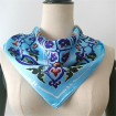 Scarf manufacturer custom photo hair silk scarf with logo