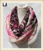 Stripes mosaic infinity scarves, scarf factory