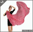 Custom red polka dots scarves in scarf factory