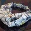 Digital custom photo printed silky headband in scarf supplier china