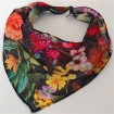 Sublimation printer printed triangle headwear chiffon scarves in bulk