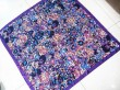 Small floral silk scarf, your designs bespoke here