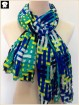Fluorescent checks viscose scarf, scarf factory