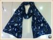 Navy blue viscose scarf, china scarf supplier
